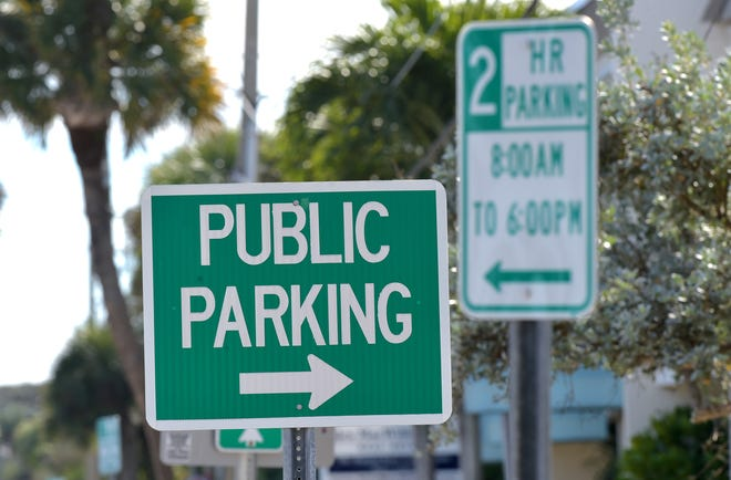 Parking among the restaurants and shops along Ocean Drive in Vero Beach on Monday, Dec. 24, 2018, where 2-hour parking signs are posted along the beachside business district. Cardinal Drive, west of Ocean Drive has 3-hour posted parking zones. Parking continues to be a problem among business owners, employees and shoppers, especially during the busy winter visitor season.