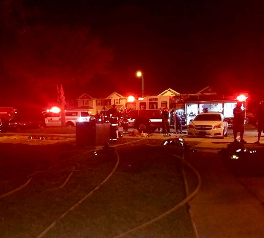 Apartment fire possibly caused by hoverboard.