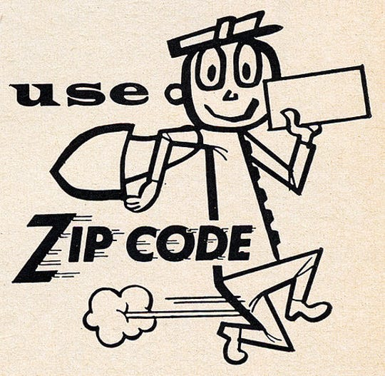 Using the new ZIP code promotion in 1963
