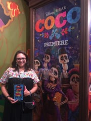 "Author Diana Lopez, who wrote the story ""Coco,"" based on the movie screenplay got to attend the premiere."