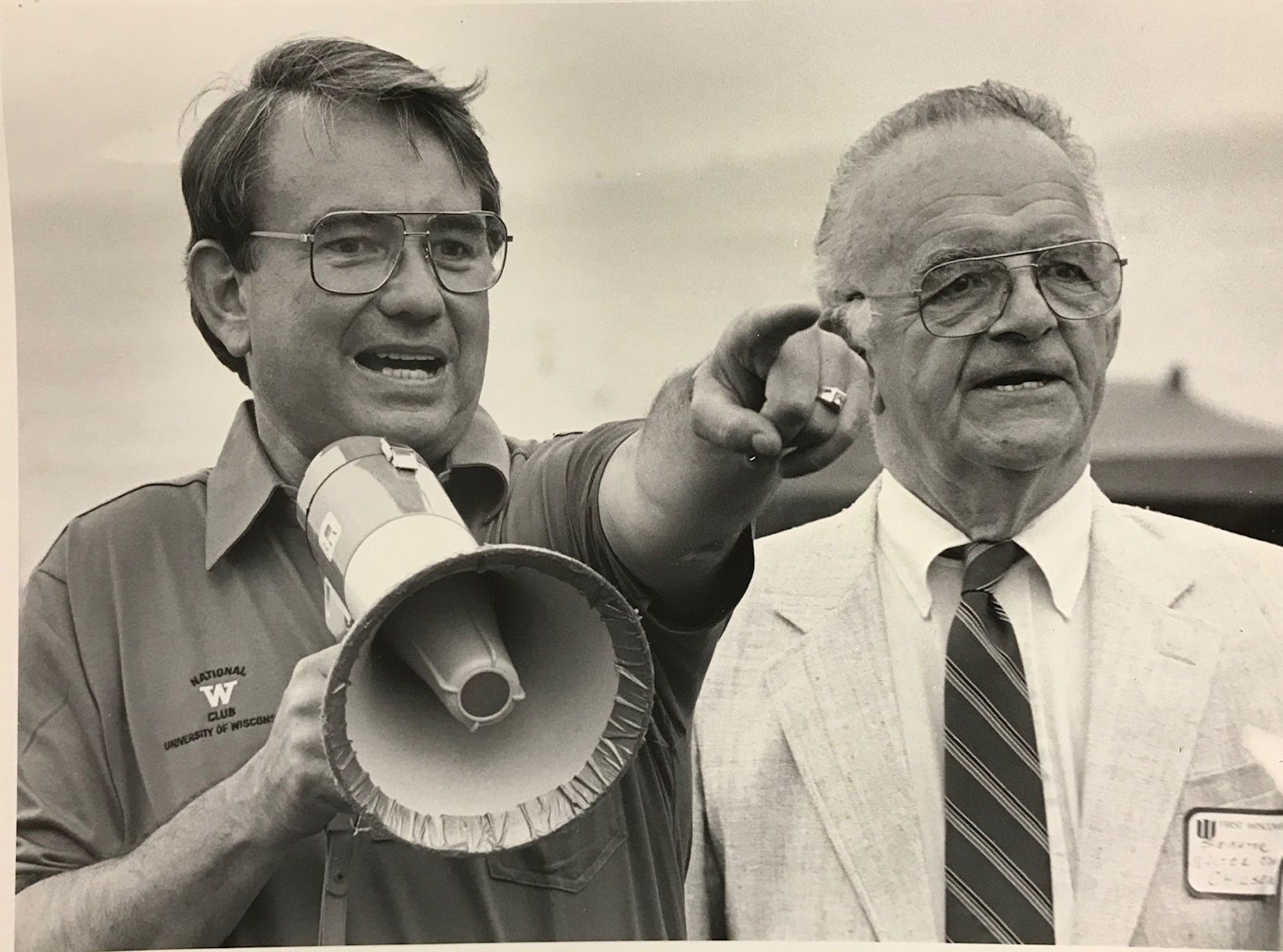 State Sen. Walter John Chilsen appears with Gov. Tommy Thompson in this undated photo from Wausau Daily Herald archives.