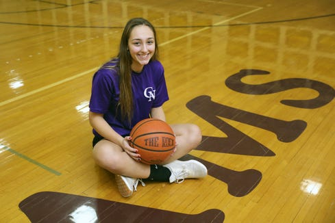 Halle Medici, a senior basketball player from Clarkstown North High School, is pictured at the school in New City, Dec. 26, 2018.