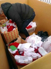 Holiday goodies bound for Afghanistan, courtesy of Ballard-Durand Funeral Home.