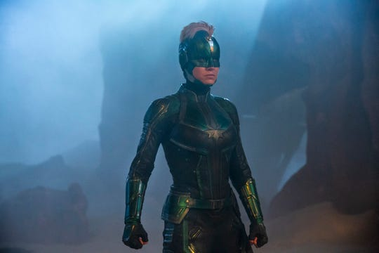 "Brie Larson's space warrior has to unlock mysteries of her past in the Marvel superhero adventure ""Captain Marvel."""