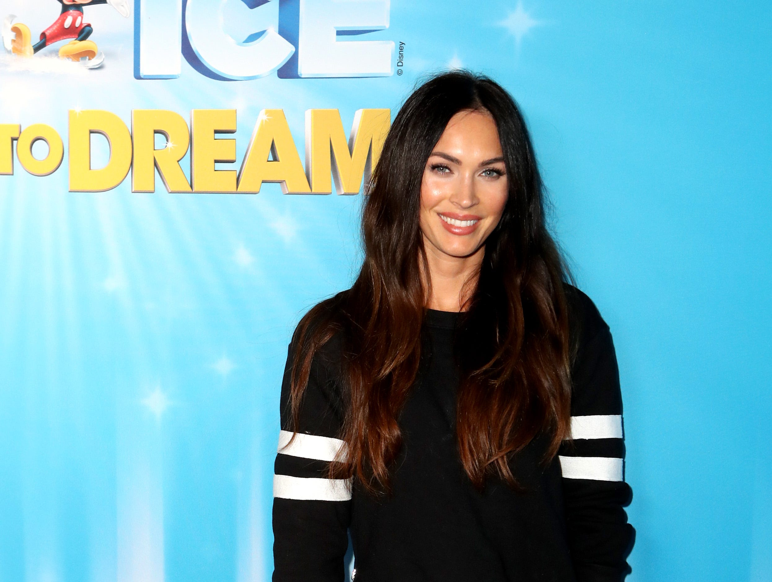 LOS ANGELES, CALIFORNIA - DECEMBER 14: Megan Fox attends  Disney On Ice Presents Dare to Dream Celebrity Skating Party at Staples Center on December 14, 2018 in Los Angeles, California. (Photo by Ari Perilstein/Getty Images for Feld Entertainment, Inc.) ORG XMIT: 775270025 ORIG FILE ID: 1082681932