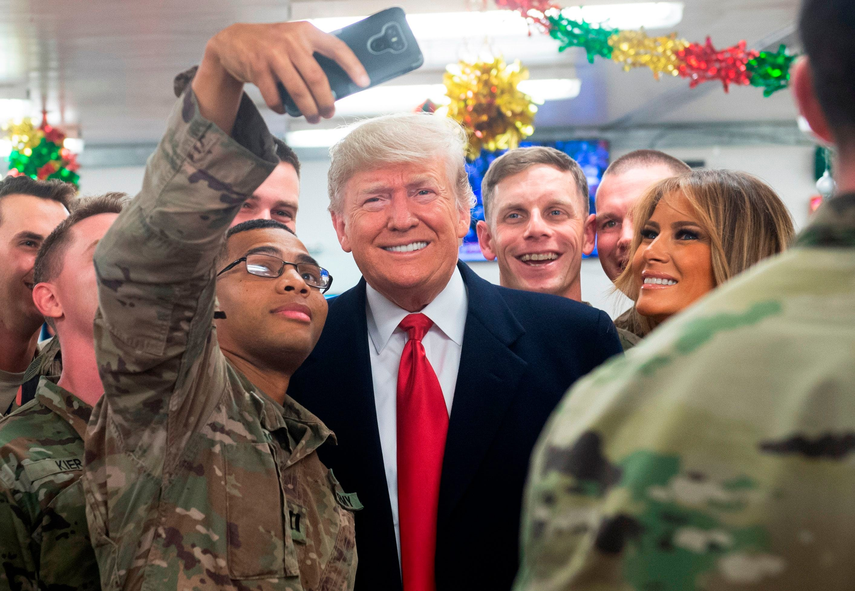 Melania Trump Christmas With The Troops 2021 Trump S Surprise Iraq Visit Flips Script On Biased Opponents Talker