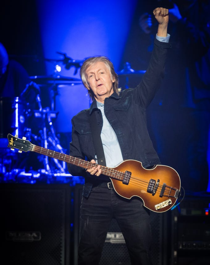 LONDON, ENGLAND - DECEMBER 16:  Paul McCartney performs live at The O2 Arena on December 16, 2018 in London, England. (Photo by Samir Hussein/WireImage) ORG XMIT: 775271258 ORIG FILE ID: 1083521326