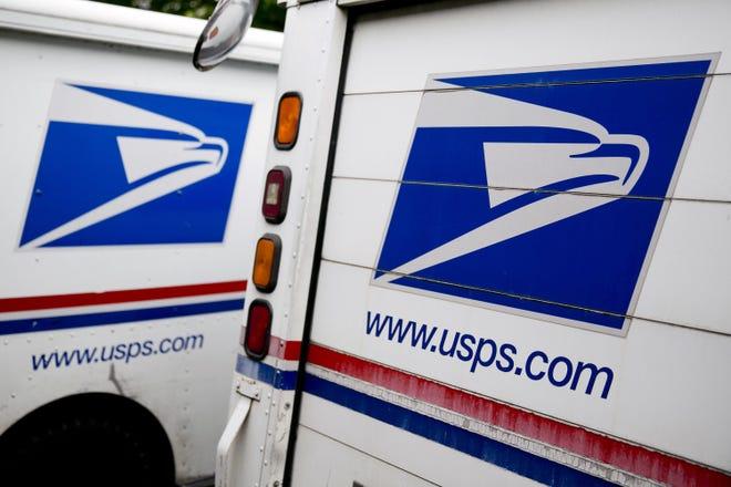 Mail trucks.