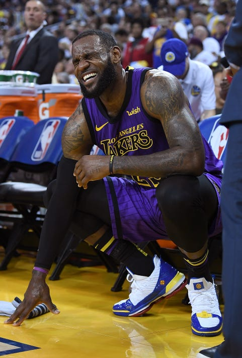 e80c66792c8 Gty 1074820112 S Bkn Spo Usa Ca. Los Angles Lakers forward LeBron James  suffered a setback injury ...