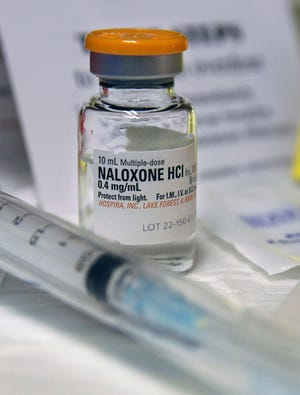 Naloxone is used in heroin and morphine overdoses.