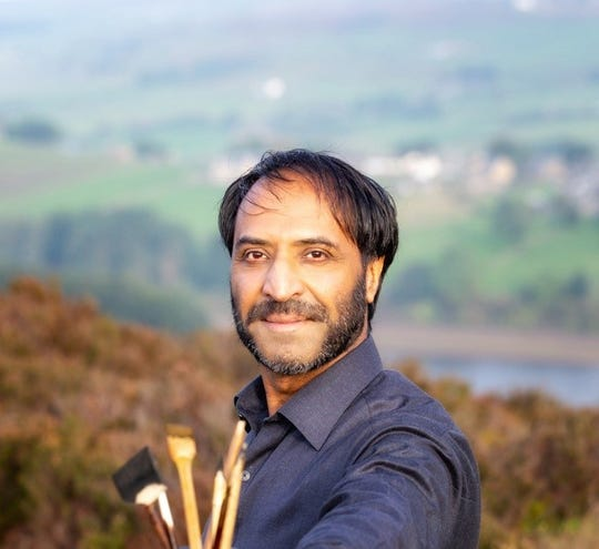 Razwan Ul-Haq writes science fiction and creates works of art using calligraphy. He says the aspects of his work that use science fiction often draw the most interest from non-Muslims, who ask penetrating philosophical questions.