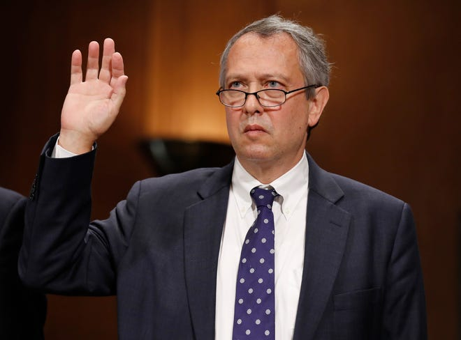Judicial nominee Thomas Farr testifies on Capitol Hill on Sept. 20, 2017.