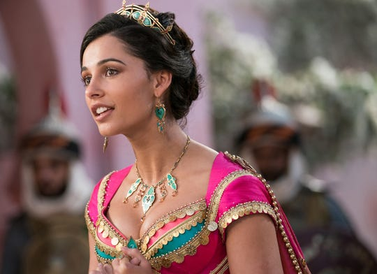 "Naomi Scott is the beautiful and self-determined Princess Jasmine in the new live-action adaptation of Disney's ""Aladdin."""