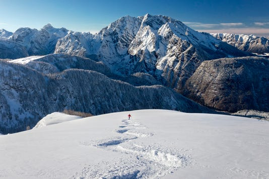 Skitouring Downhill Powder Skiing At Watzmann Nationalpark Berchtesgaden