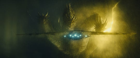 "The three-headed golden dragon Ghidorah returns to the big screen, along with other giant creatures like Rodan and Mothra, to fight for supremacy in ""Godzilla: King of the Monsters."""