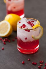 Cranberry Pomegranate Bourbon Sparkler.