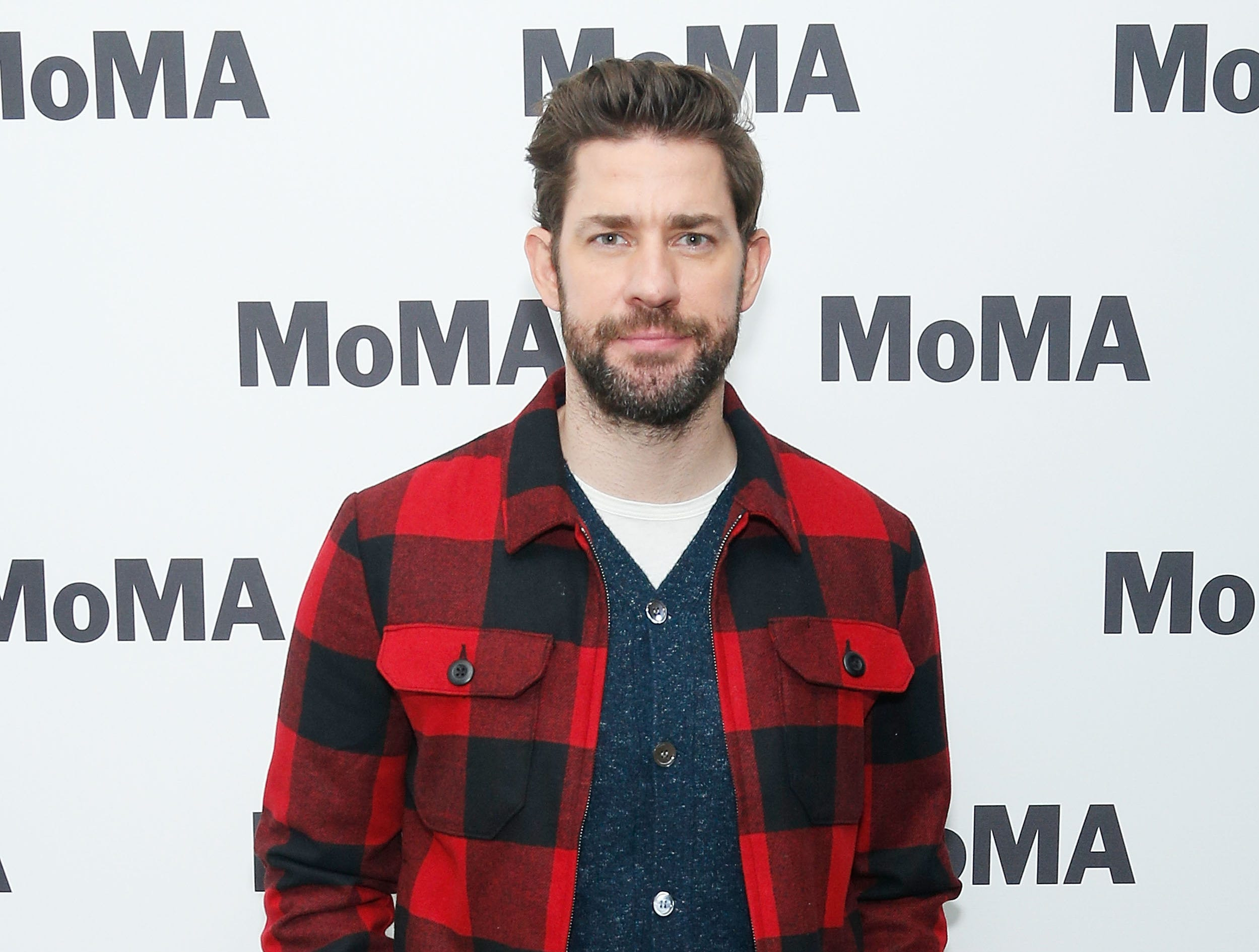 """NEW YORK, NY - DECEMBER 16:  Writer, director, producer and actor John Krasinski attends MoMA's Contenders screening of """"A Quiet Place"""" at MoMA Titus One on December 16, 2018 in New York City.  (Photo by Lars Niki/Getty Images for MoMA The Contenders) ORG XMIT: 775251415 ORIG FILE ID: 1074301288"""