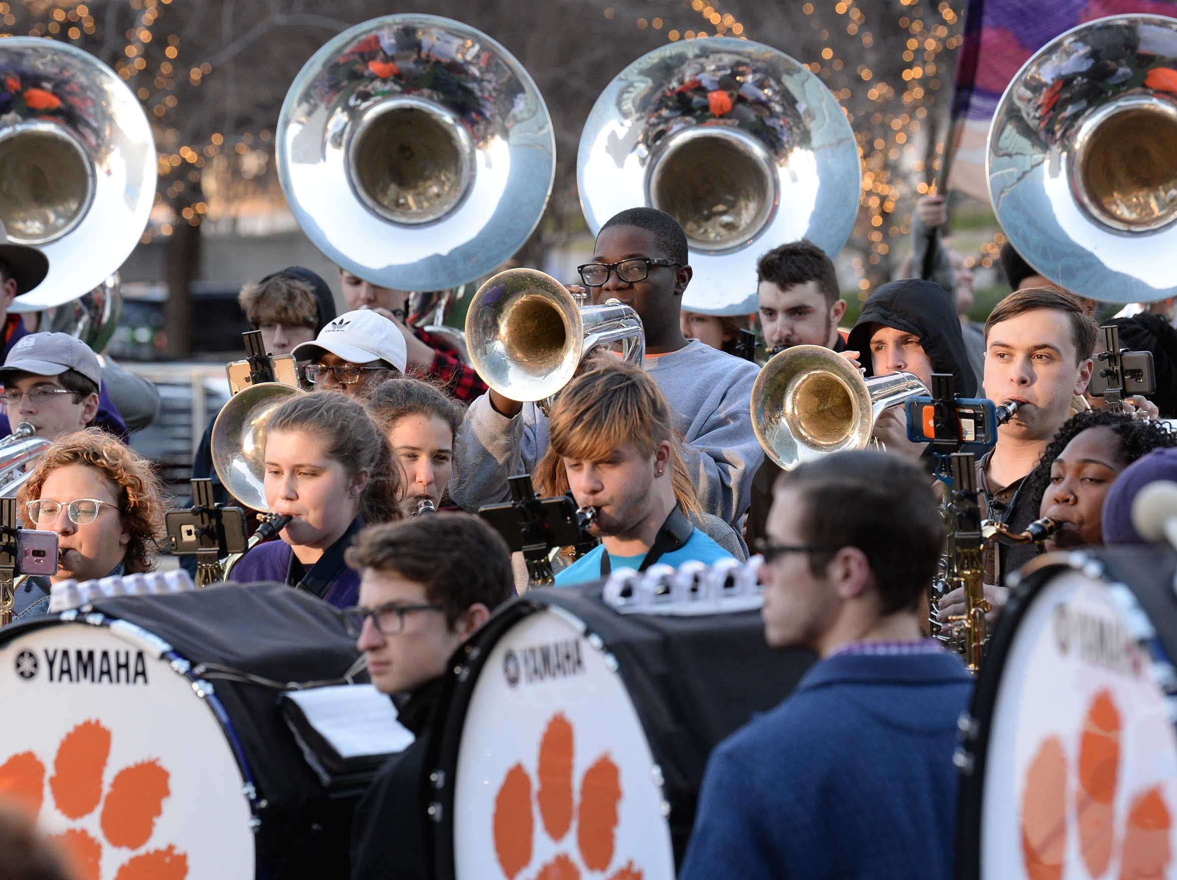 Clemson Band practice outside the Omni in Dallas December 27, 2018.