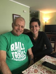 "Laura Allen (right) with her dad Charles ""Tom"" Allen. Laura donated a kidney to her dad."