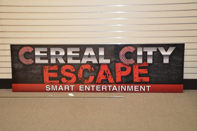 Owners Seth and Wendy Graves hope to open Cereal City Escape in Lakeview Square Mall by mid-January 2019.
