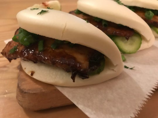 The Pork Belly Bao at Nomikui Ramen in Downtown Binghamton is a popular item on the menu.