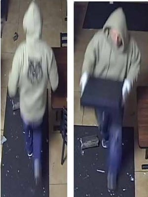 A burglar is wanted in Melbourne and West Melbourne for several business break-ins.