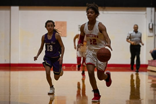 Robstown girls basketball plays Aransas Pass during the West Oso's tournament on Thursday, Dec. 27, 2018.