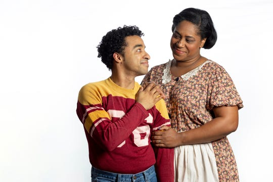 """Crystian Wiltshire, left and Torie Wiggins are seen in a promotional photo for the Cincinnati Shakespeare Company's upcoming production of August Wilson's """"Fences."""" The play, a part of Wilson's Pittsburgh cycle of plays, runs Jan. 25-Feb. 16 in CSC's Over-the-Rhine theater."""