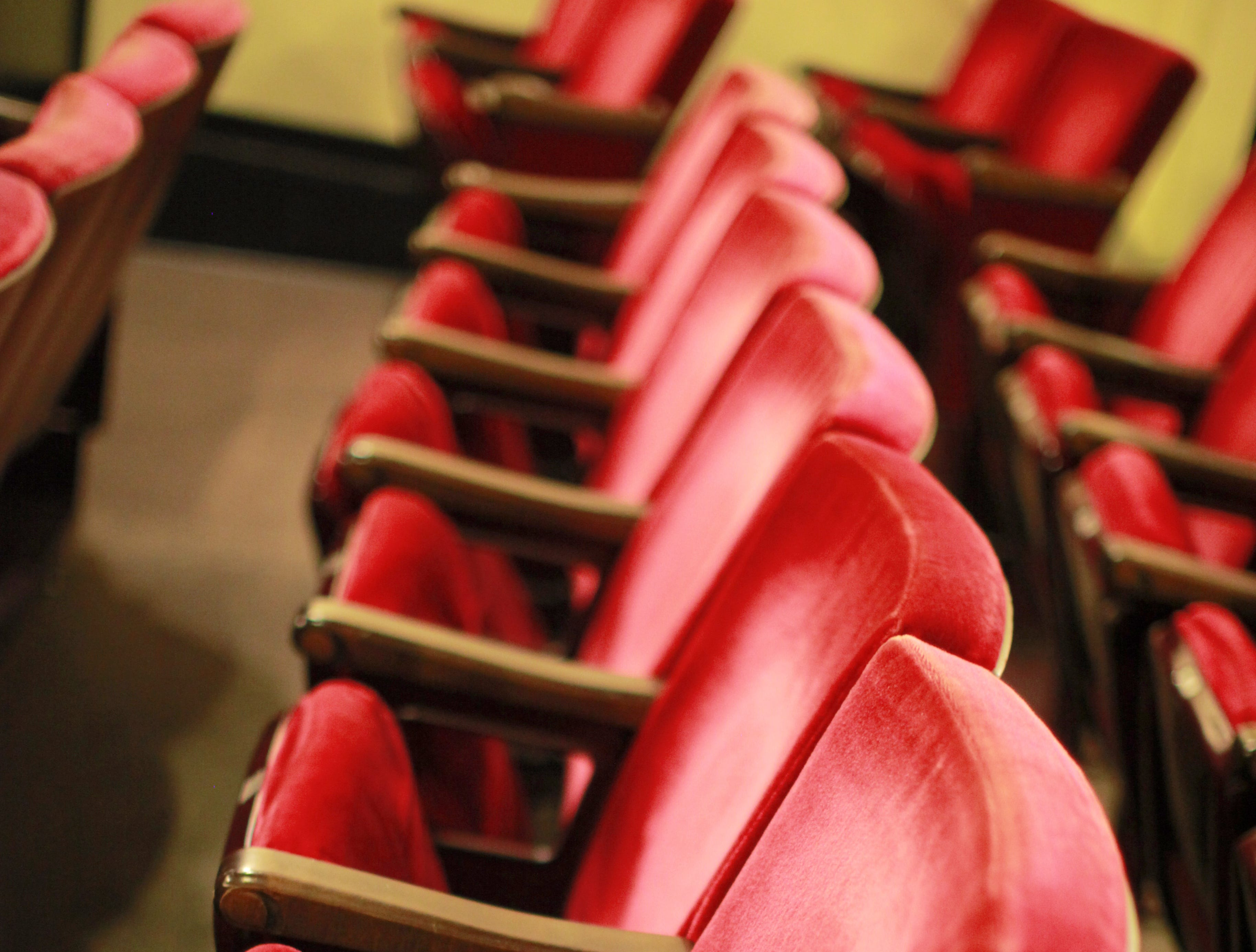 Red seats at the Showboat Majestic.