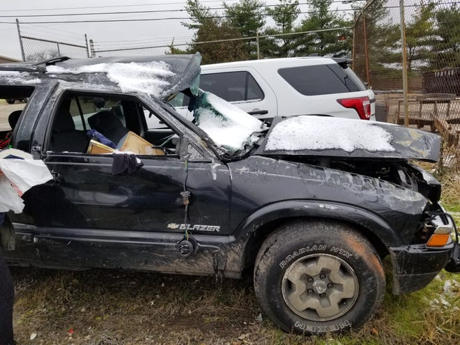 The SUV which rolled over in November hospitalizing two women.
