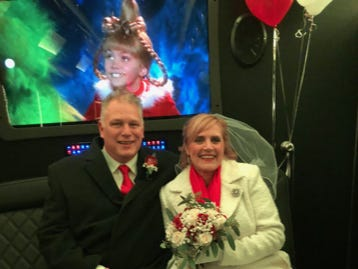 Cathy Fitzpatrick and Tim Vollenbroek of Woodbridge got married on Christmas Eve under the tree at Rockefeller Center.