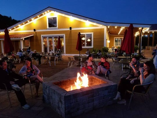 A Fire Pit Friday at Willow Creek Farm and Winery.