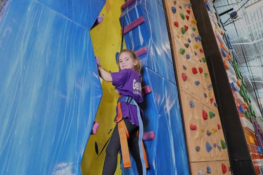 A rock climbing wall like the one shown above will be among the many amenities at Ankeny's new Urban Air Adventure Park when it opens in summer 2019.
