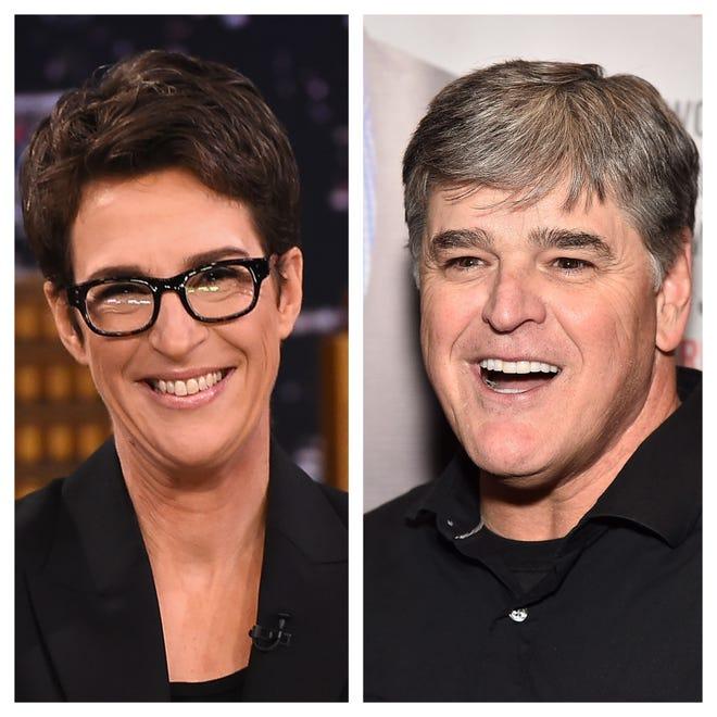 Rachel Maddow and Sean Hannity