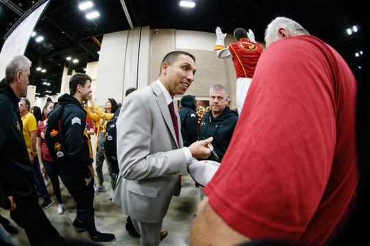 Iowa State coach Matt Campbell has helped the Cyclones to big success over the last two seasons.