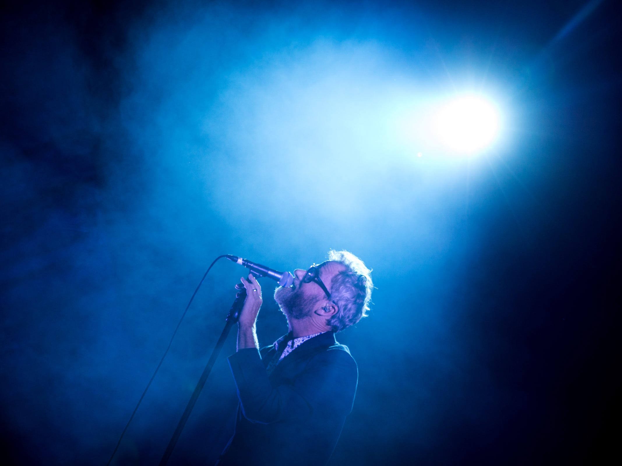 The National performs at the Mo Pop music festival in West Riverfront Park in Detroit on July 29, 2018.