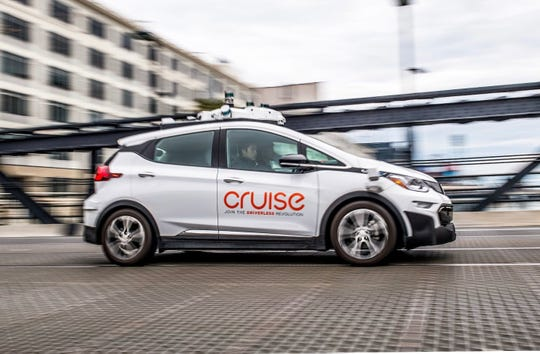 Cruise Automation Generation 2 Bolt EV AV self-driving technology on the streets of San Francisco in November 2017.