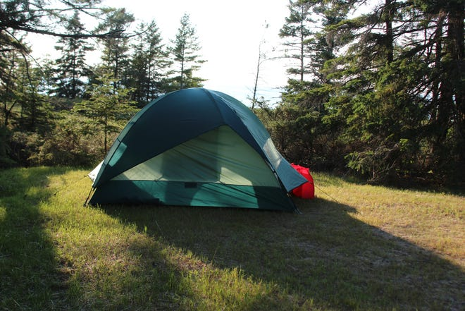 The rustic campground at Wilderness State Park in Carp Lake near Mackinaw City, Mich., where quiet is the benefit.