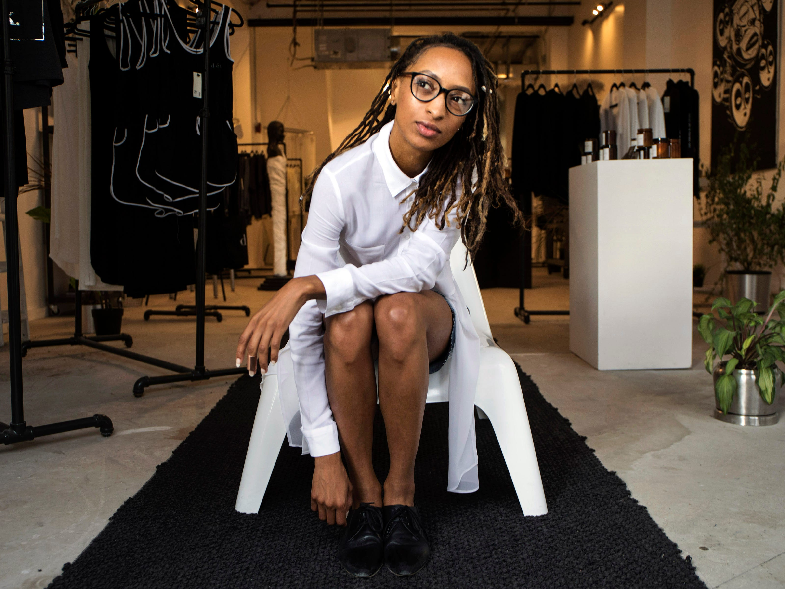 Roslyn Karamoko, 33, is the founder and CEO of Detroit is the New Black, Wednesday, August 29, 2018.