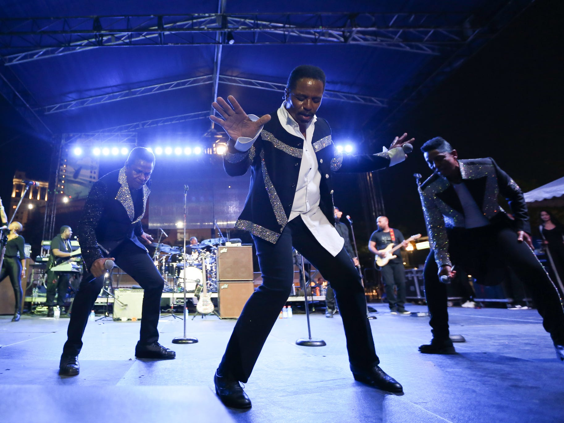 The Jacksons perform during Detroit Music Weekend in Detroit on Saturday, June 16, 2018.