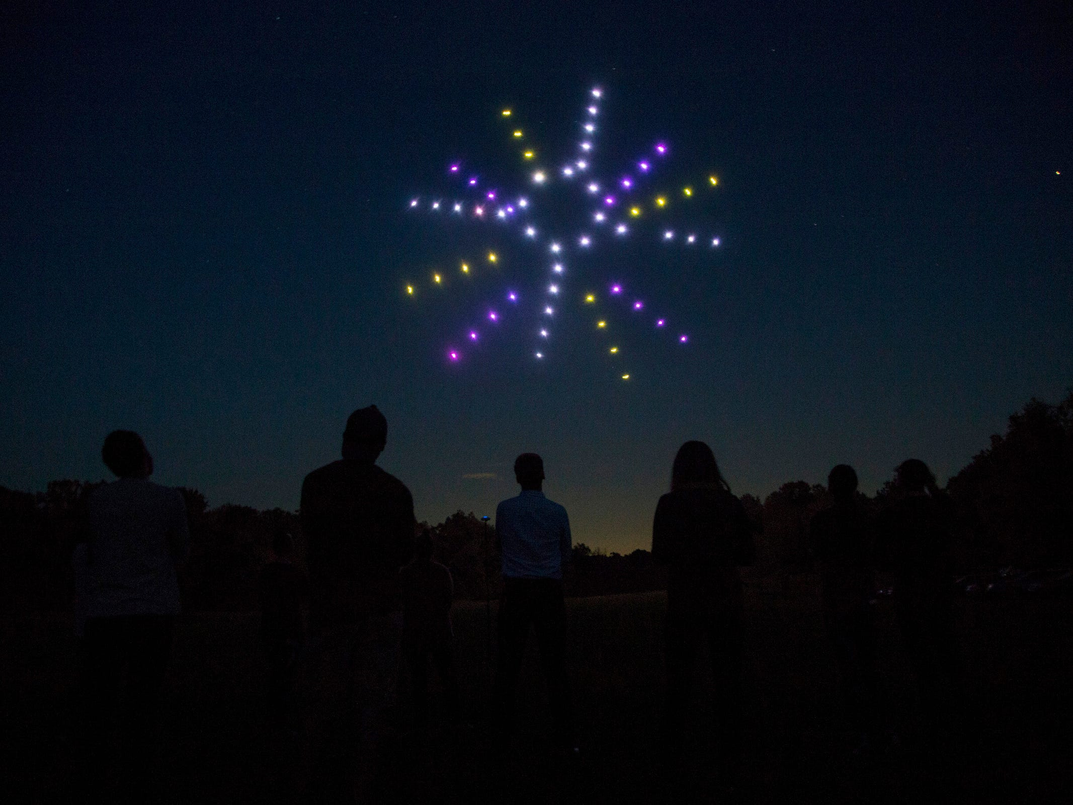 Firefly Drone Shows, a company out of Lake Orion uses multiple drones to swarm creating incredible evening light shows.