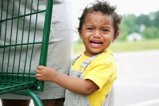 Child having temper tantrum.