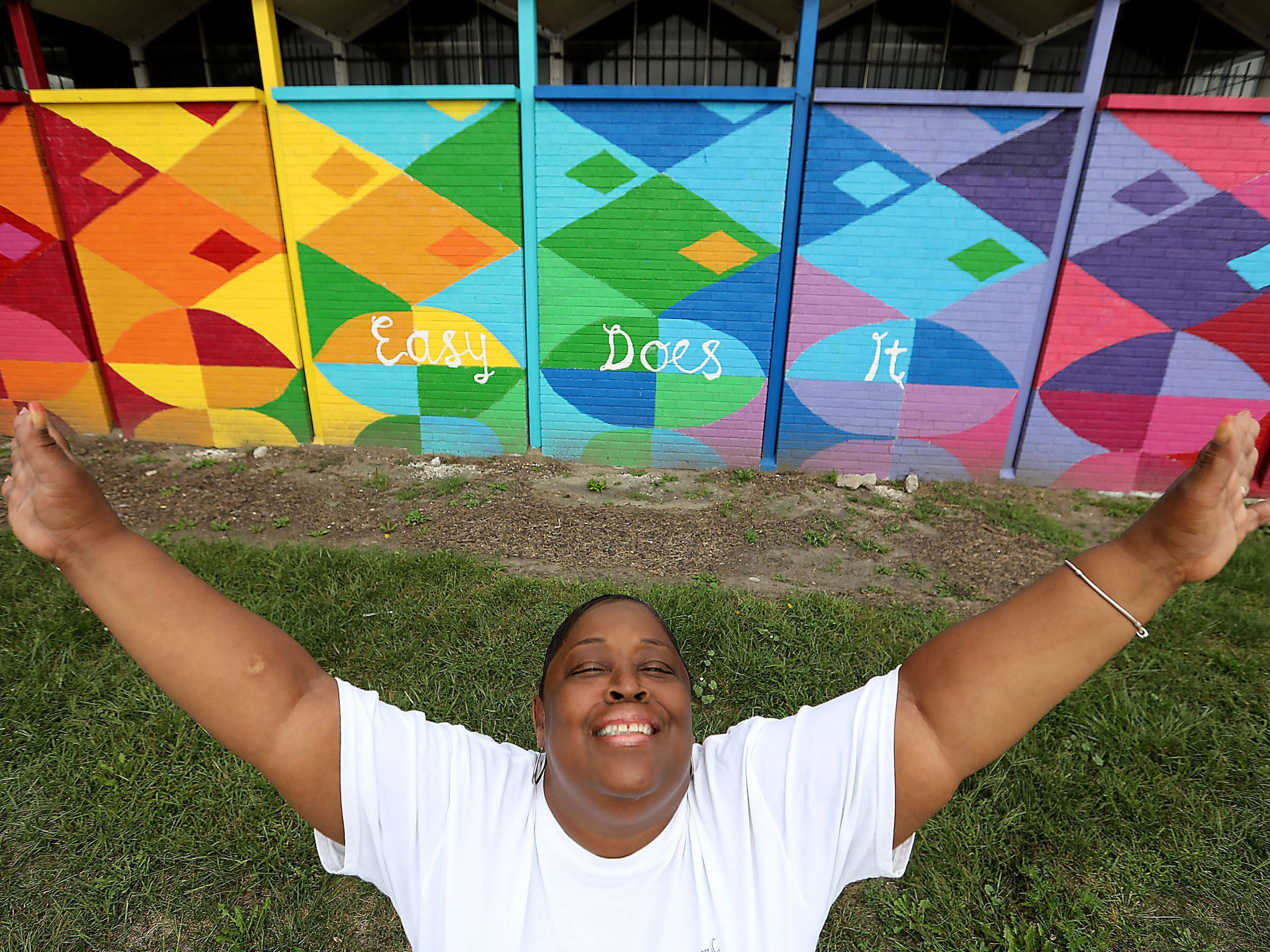 Stacia Cottrell-Scott, 54, of Detroit talks about living with a HIV diagnosis and being an advocate for those living with addiction and the consequences of it at the Detroit Recovery Project in Detroit on Wednesday, Sept. 19, 2018.