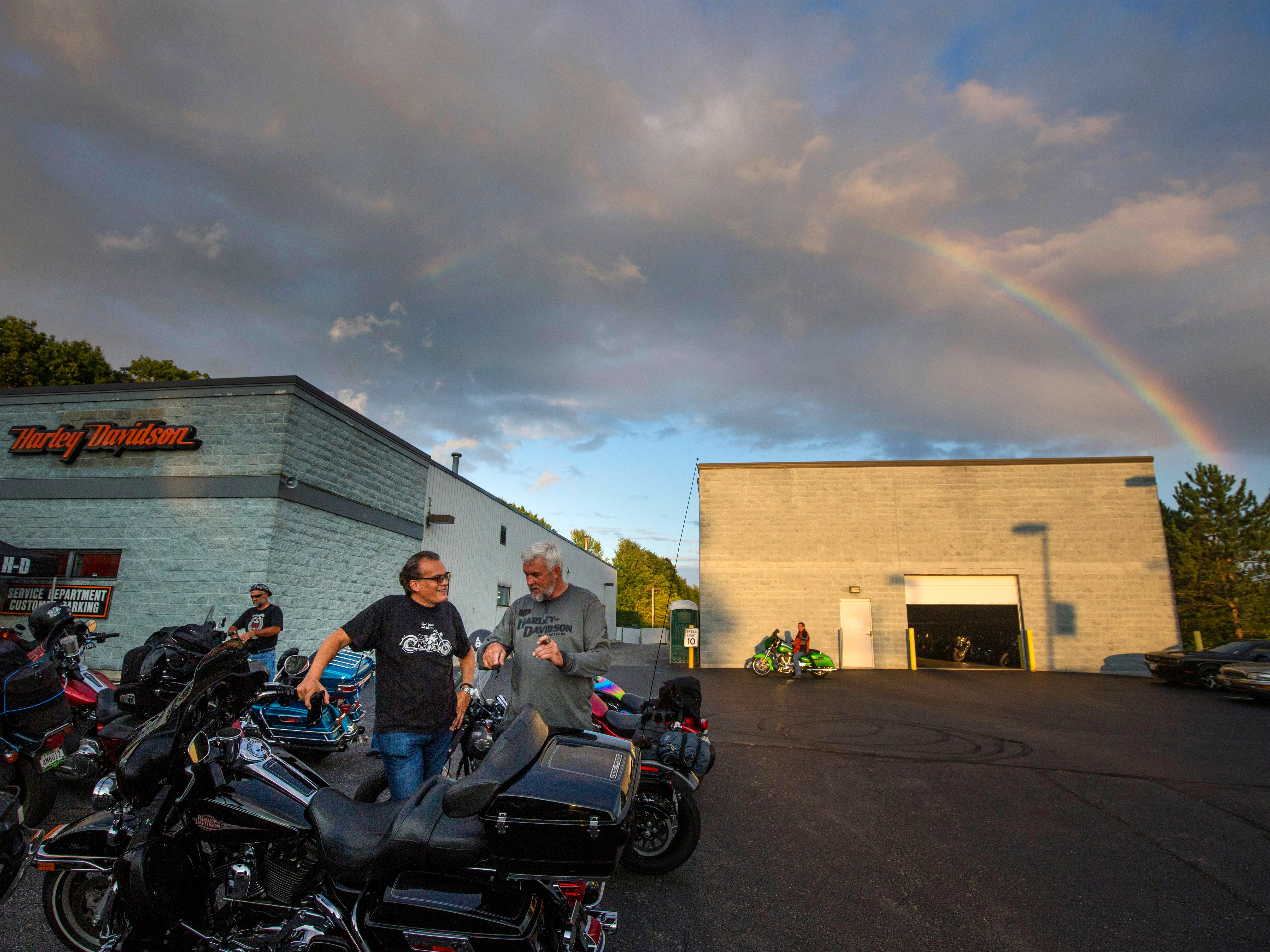 The Big Moose Harley-Davidson of Portland Maine held a kickoff party Wednesday, August 22, 2018 for the Harley Rides Home event the night before folks ride from Portland Maine to Milwaukee to celebrate Harley-Davidson turning 115-years-old.