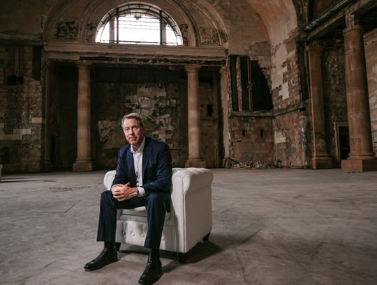 Ford Motor Co. Executive Chairman Bill Ford Jr. poses for a photo in Michigan Central Station in Detroit's Corktown neighborhood in Detroit on Wednesday, June 13, 2018.