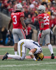 Zach Gentry had three drops in the loss to Ohio State.