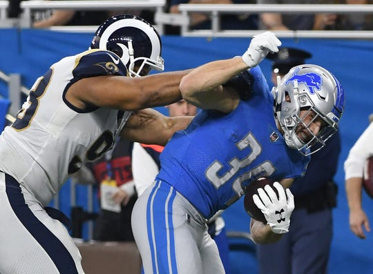 Running back Zach Zenner is averaging 5.1 yards per carry since rejoining the Lions in November.