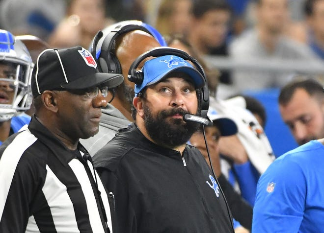 Lions head coach Matt Patricia is 5-10 with one game remaining in his first season in Detroit.