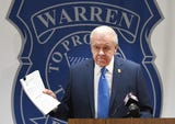 Warren Police Commissioner William Dwyer tells the media that a lawsuit filed against him and the city by a suspended deputy commissioner is invalid.