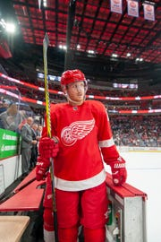 Detroit center Gustav Nyguist had 10 goals and 27 assists heading in Friday's game against Winnipeg.